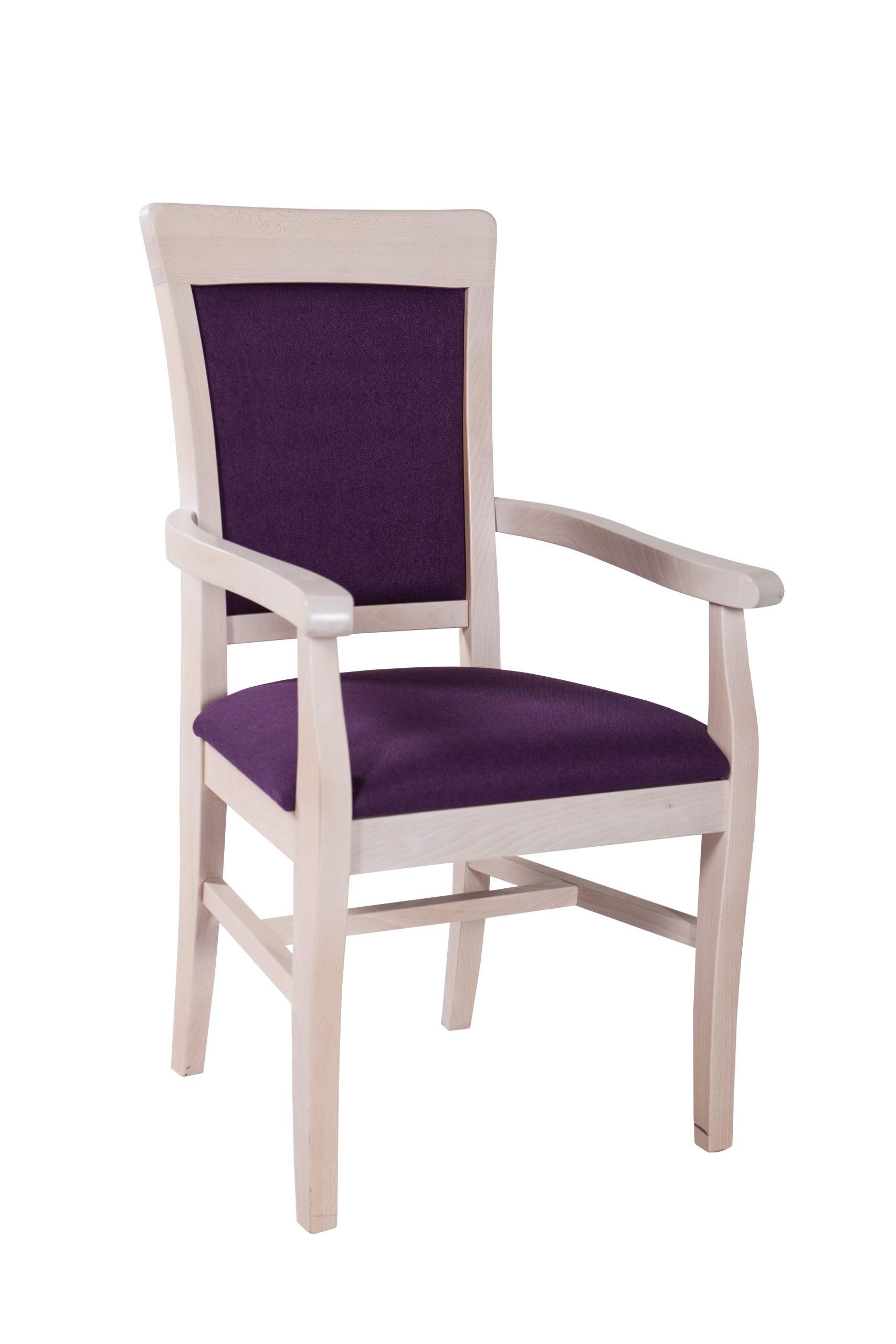 Bardzo wygodne krzesło KT55 z podłokietnikami dostępne w różnych kolorach oraz tkaninach