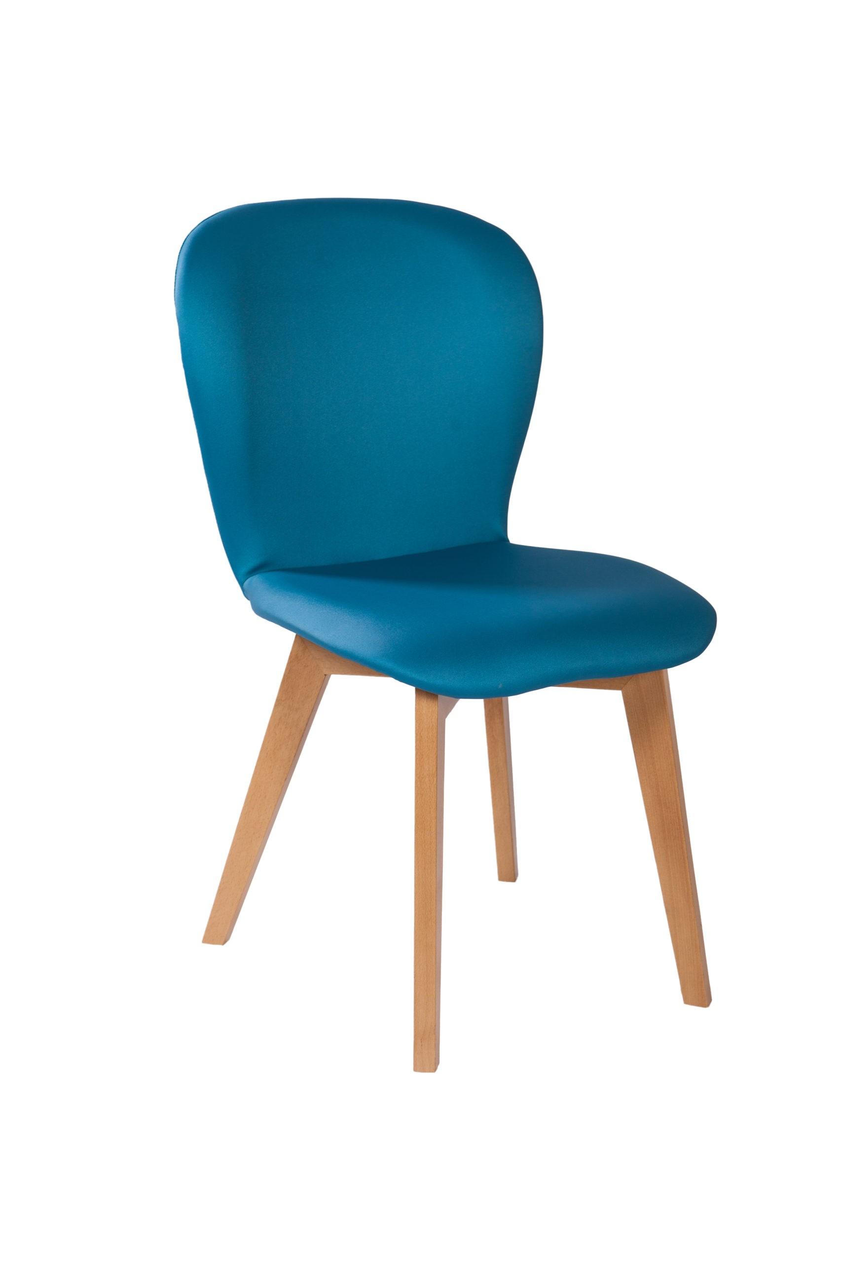Designerskie krzesło tapicerowane KT 35 na krzyżowym stelażu drewnianym