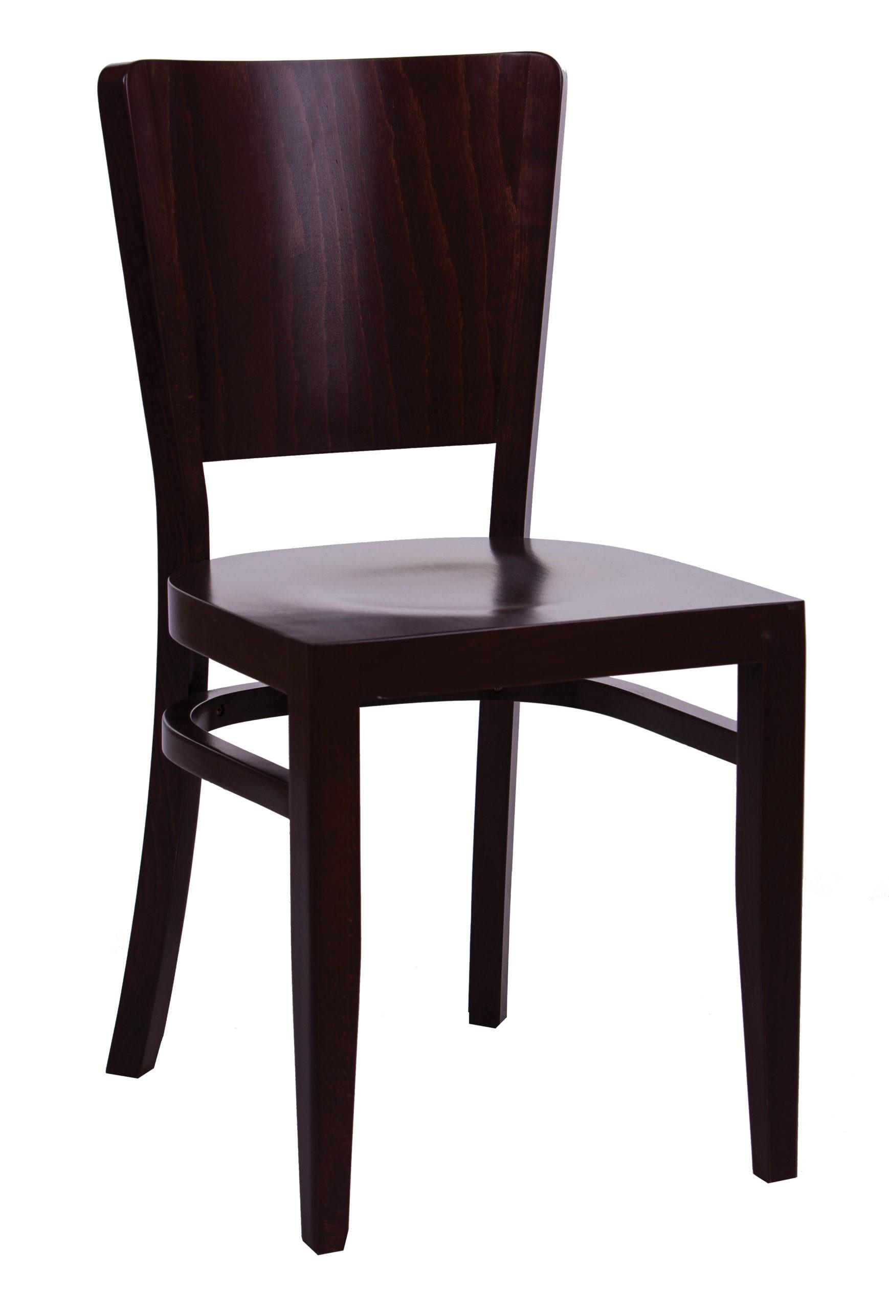 Drewniane krzesło KT48 do jadalni kuchni drewniane siedzisko i oparcie