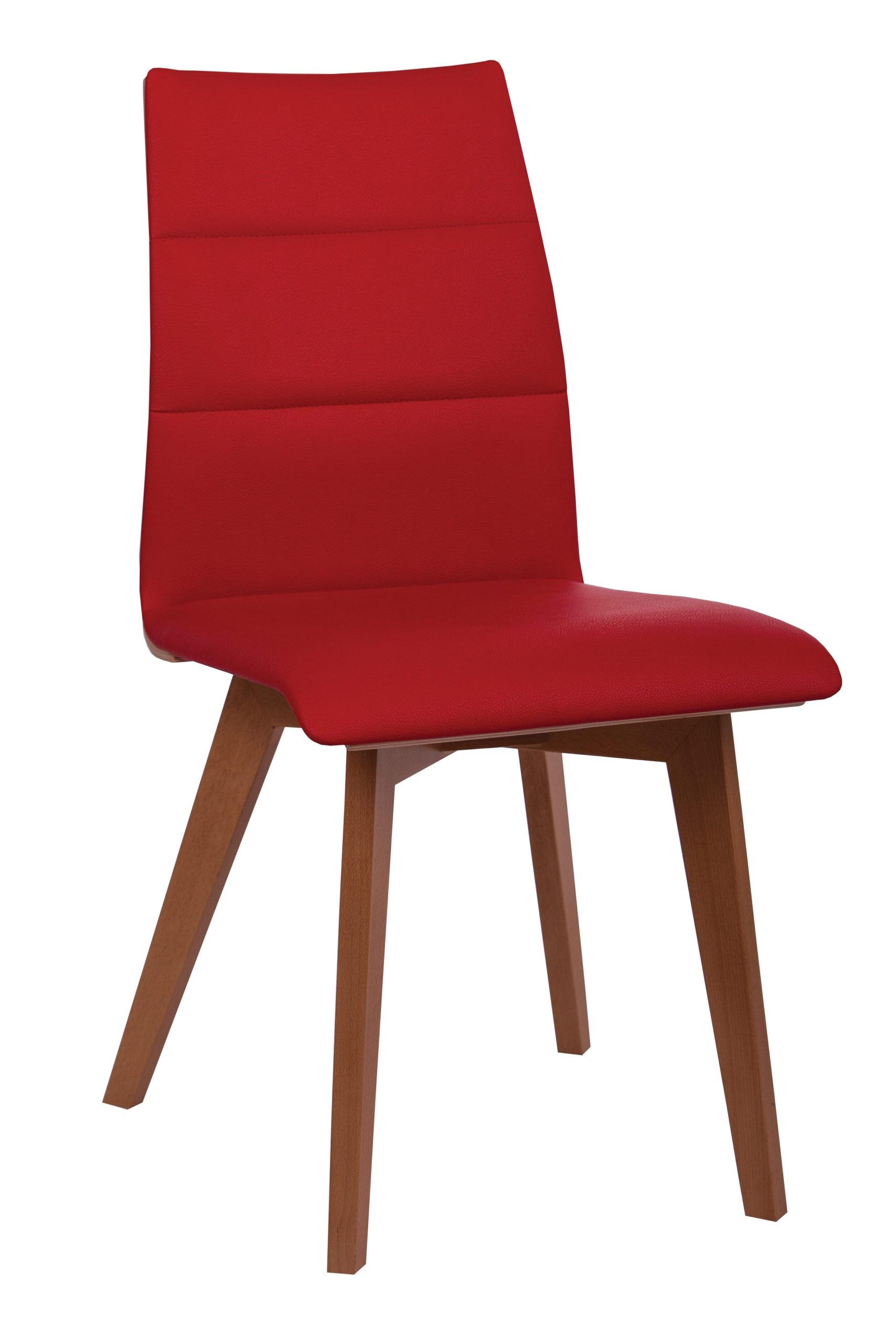 Krzesło KT 36 tapicerowane profilowane na krzyżowym efektownym stelażu