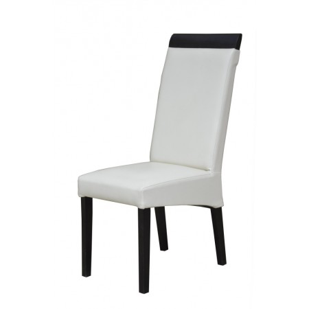 Krzesło do jadalni całe tapicerowane z drewnianą listwą KT 2
