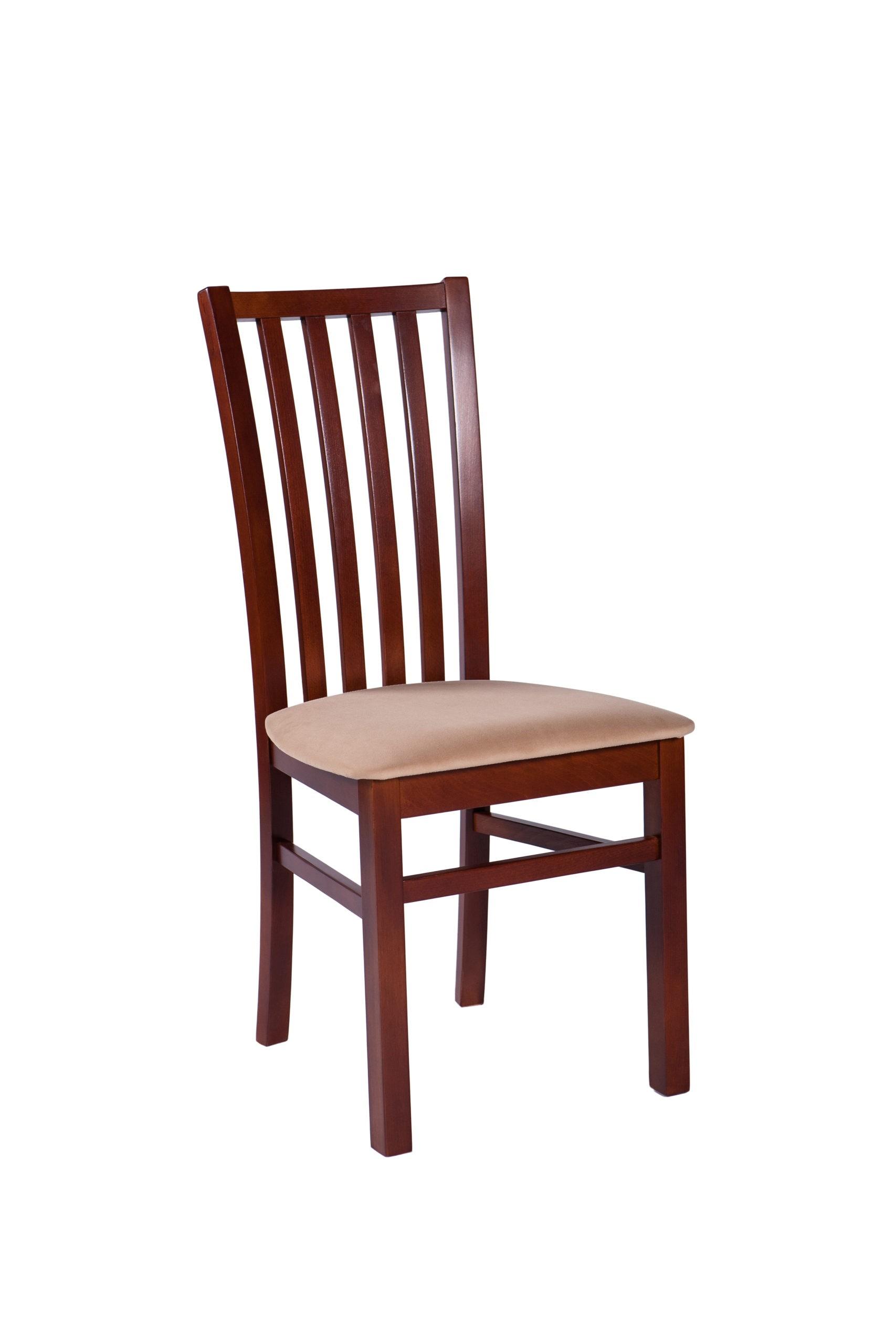 Krzesło do jadalni z drewnianym oparciem i tapicerowanym siedziskiem KT45