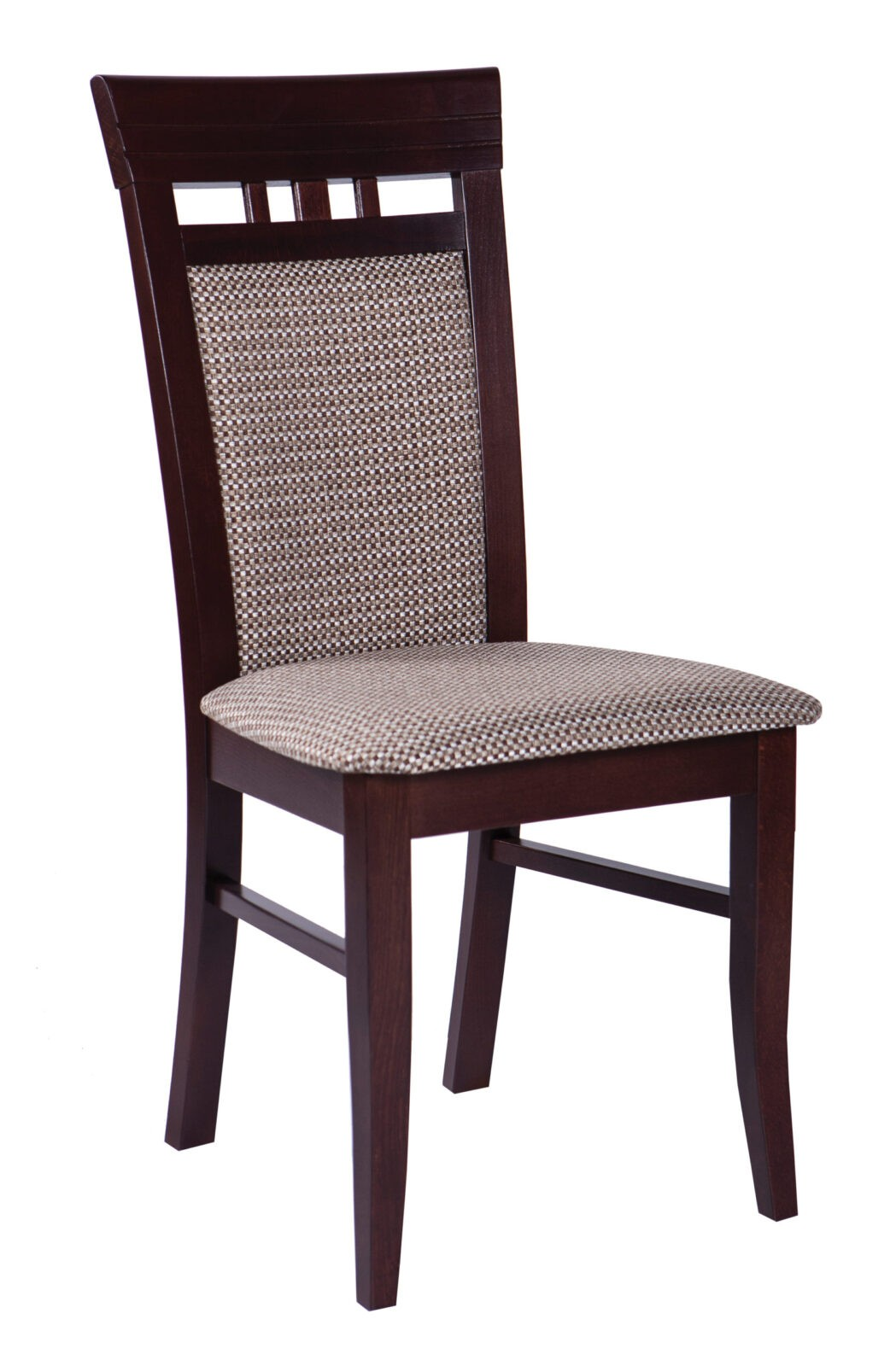 Krzesło drewniane tapicerowane MR 11 profilowane oparcie