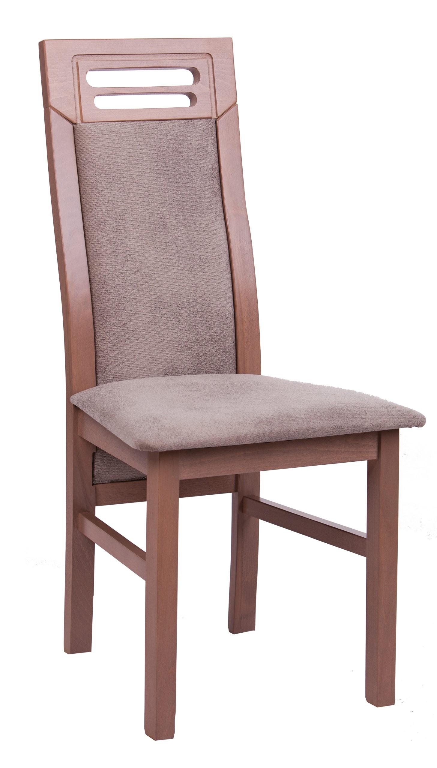 Krzesło lite drewno MR 45 szare długie szerokie oparcie