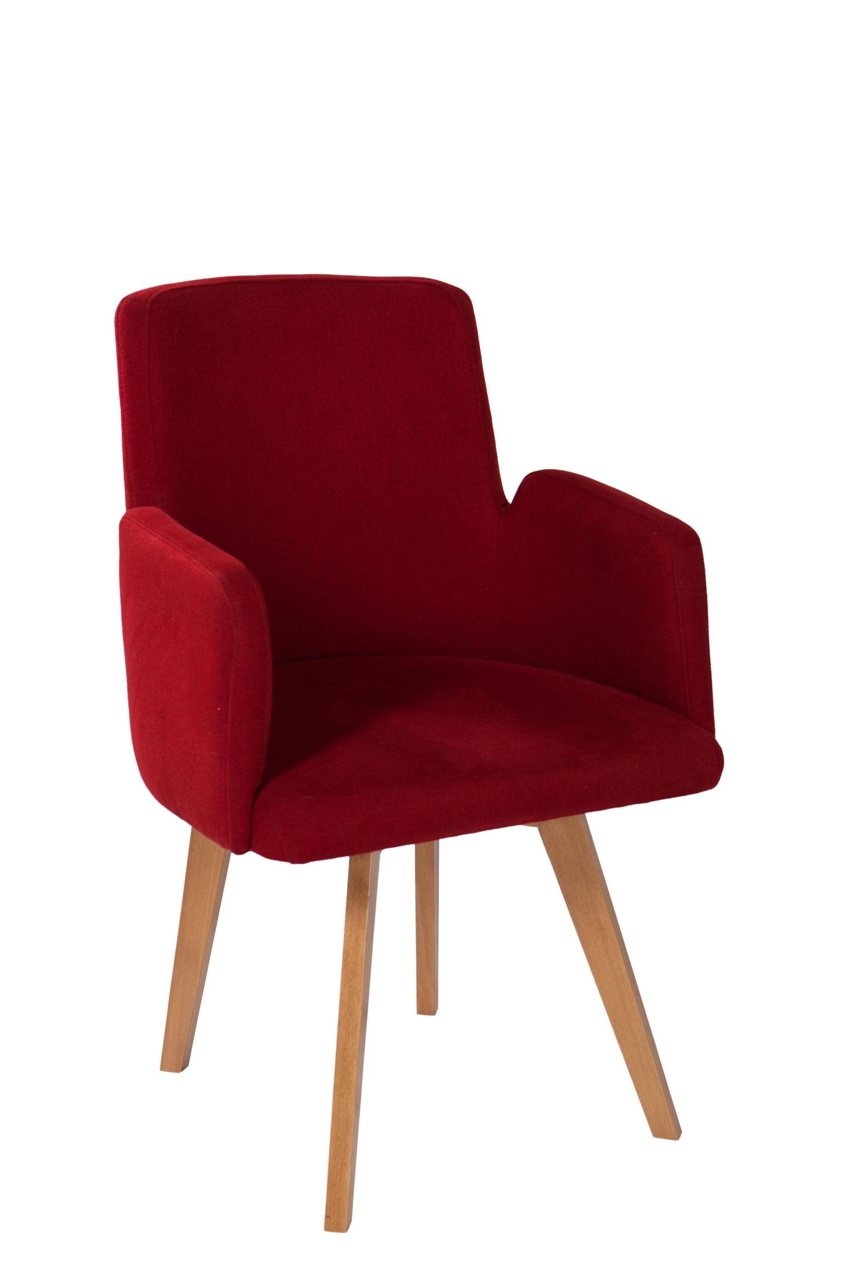 Krzesło tapicerowane KT 31 na drewnianym stelażu z podłokietnikami