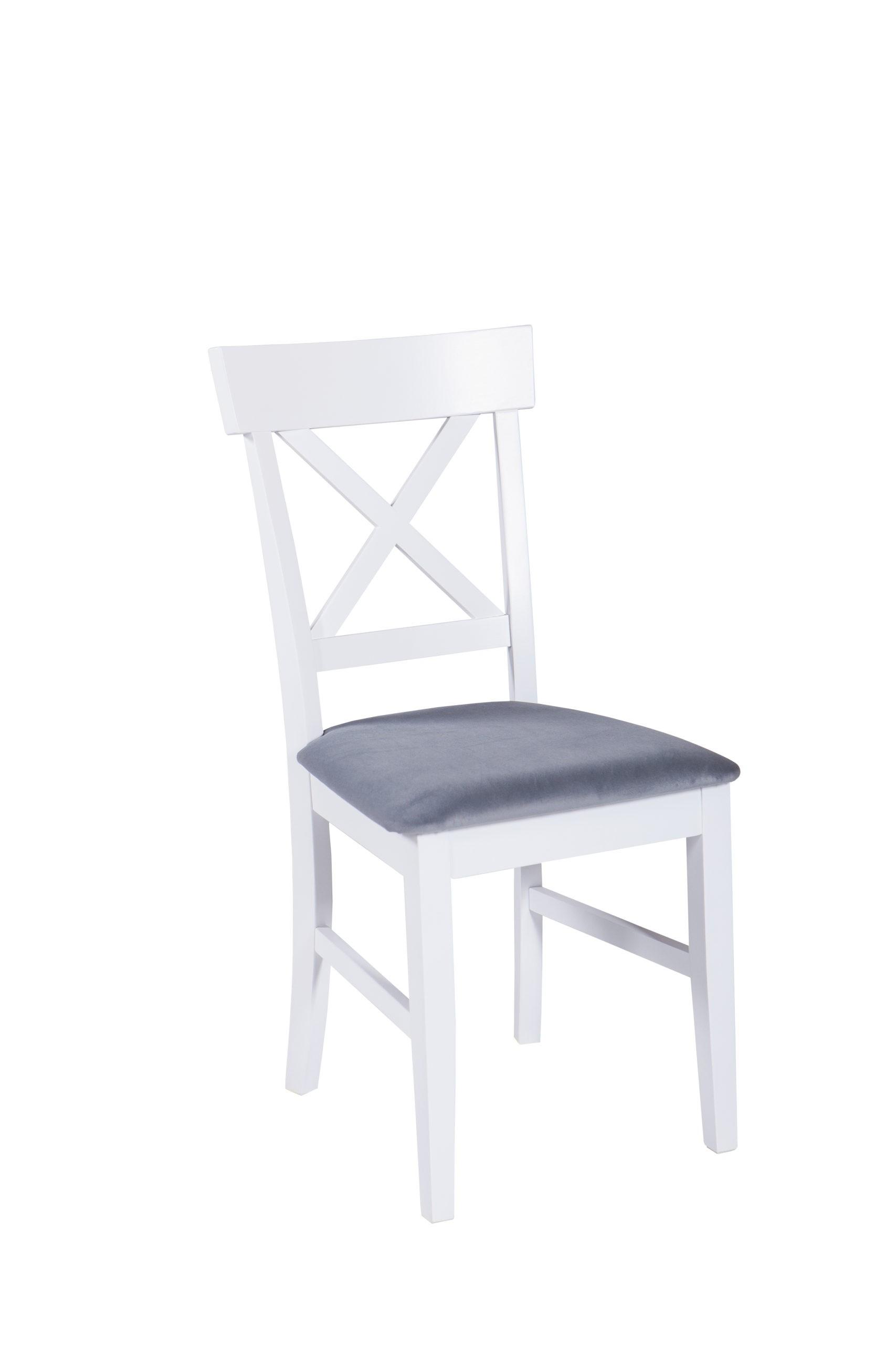 Nowoczesne drewniane krzesło do jadalni MR 867 w kolorze białym