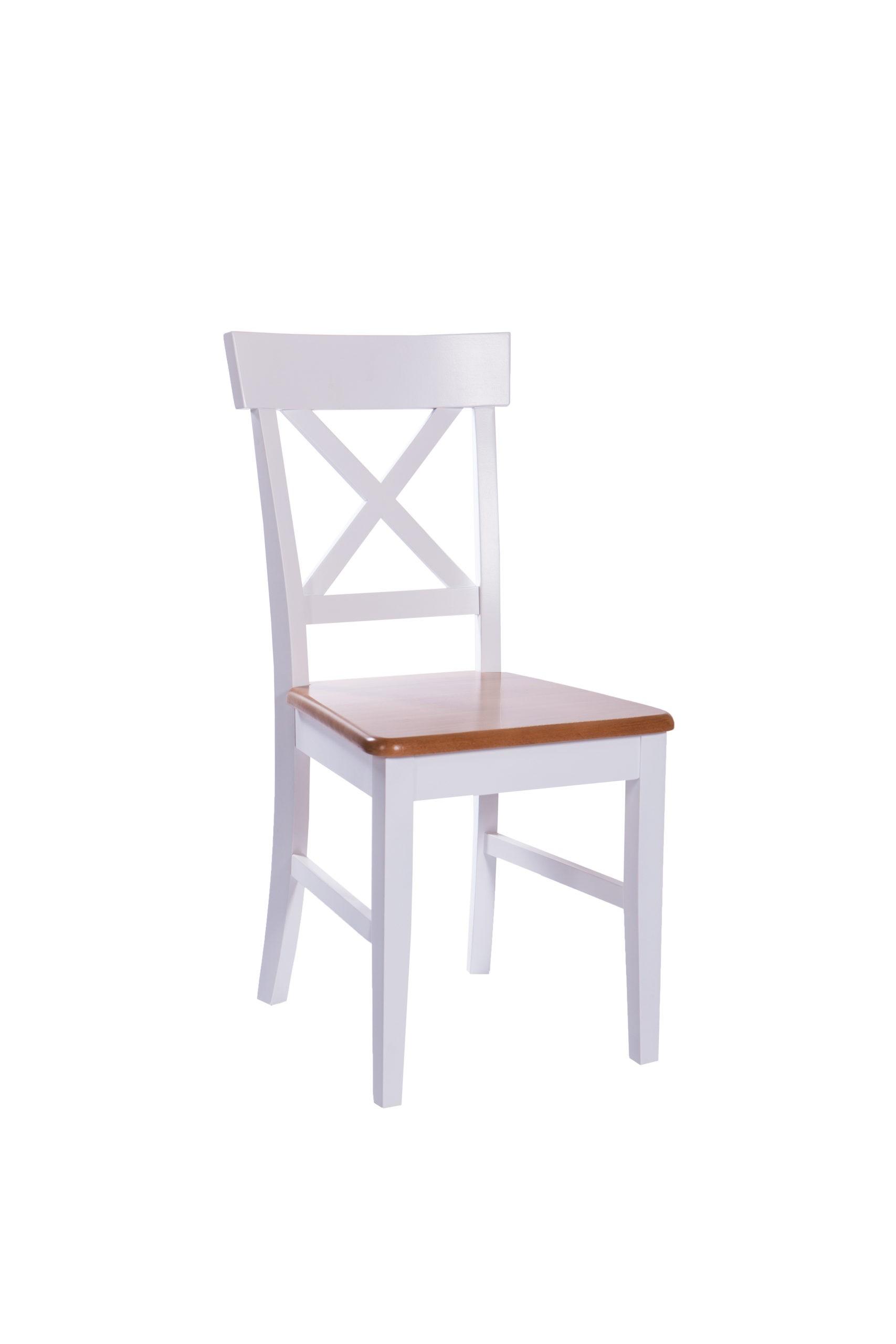 Nowoczesne drewniane krzesło do jadalni MR 967 w kolorze białym z drewnianym siedziskiem w różnych kolorach