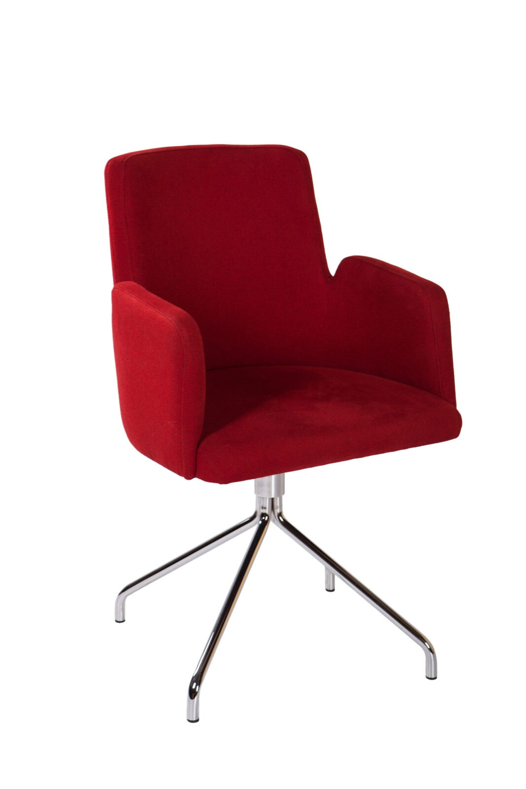 Nowoczesne krzesło tapicerowane KT 32 na metalowym stelażu z podłokietnikami