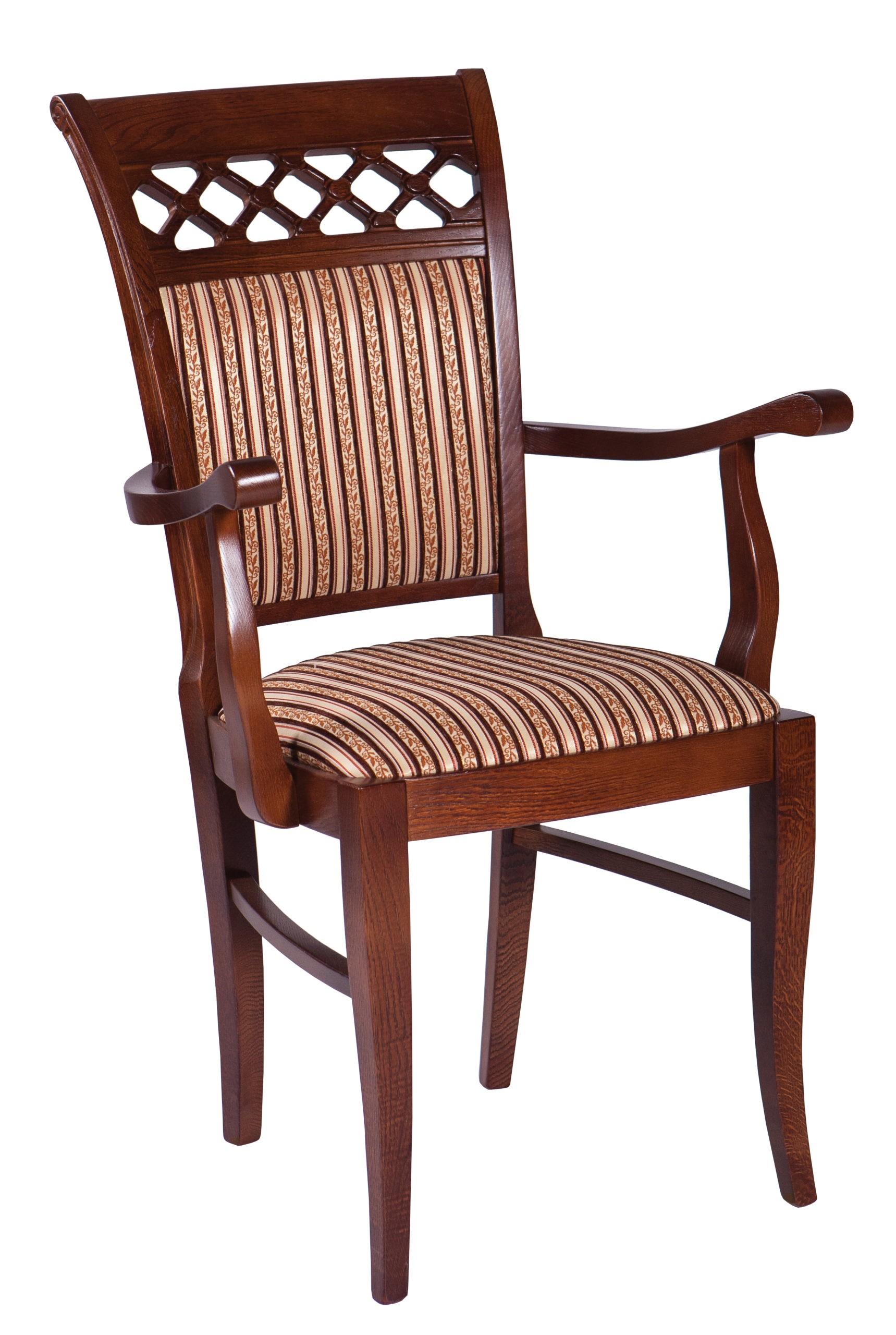 Włoskie stylowe krzesło do salonu z podłokietnikami KT52
