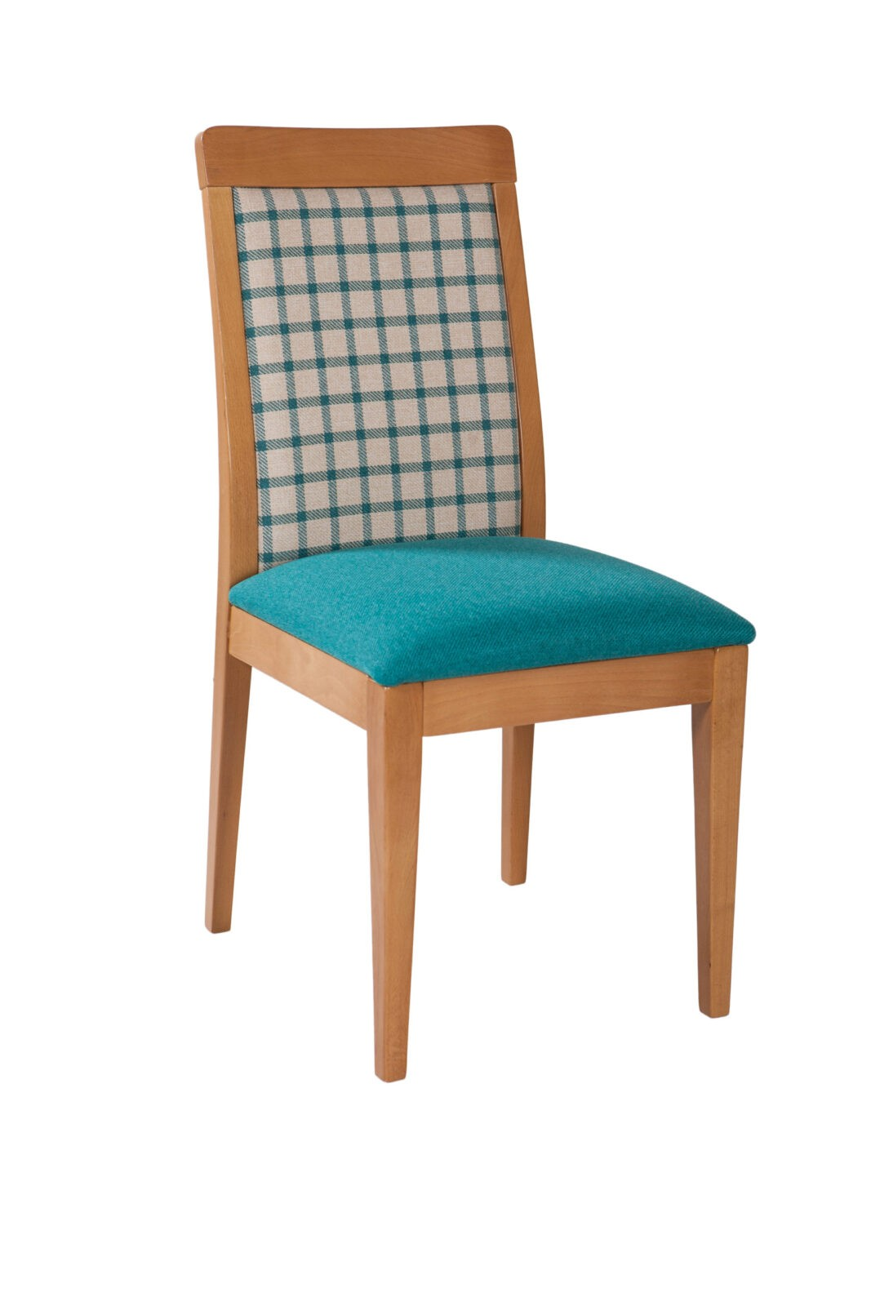 Wygodne krzesło drewniane z tapicerowanym siedziskiem oraz oparciem w różnych kolorach KT 41