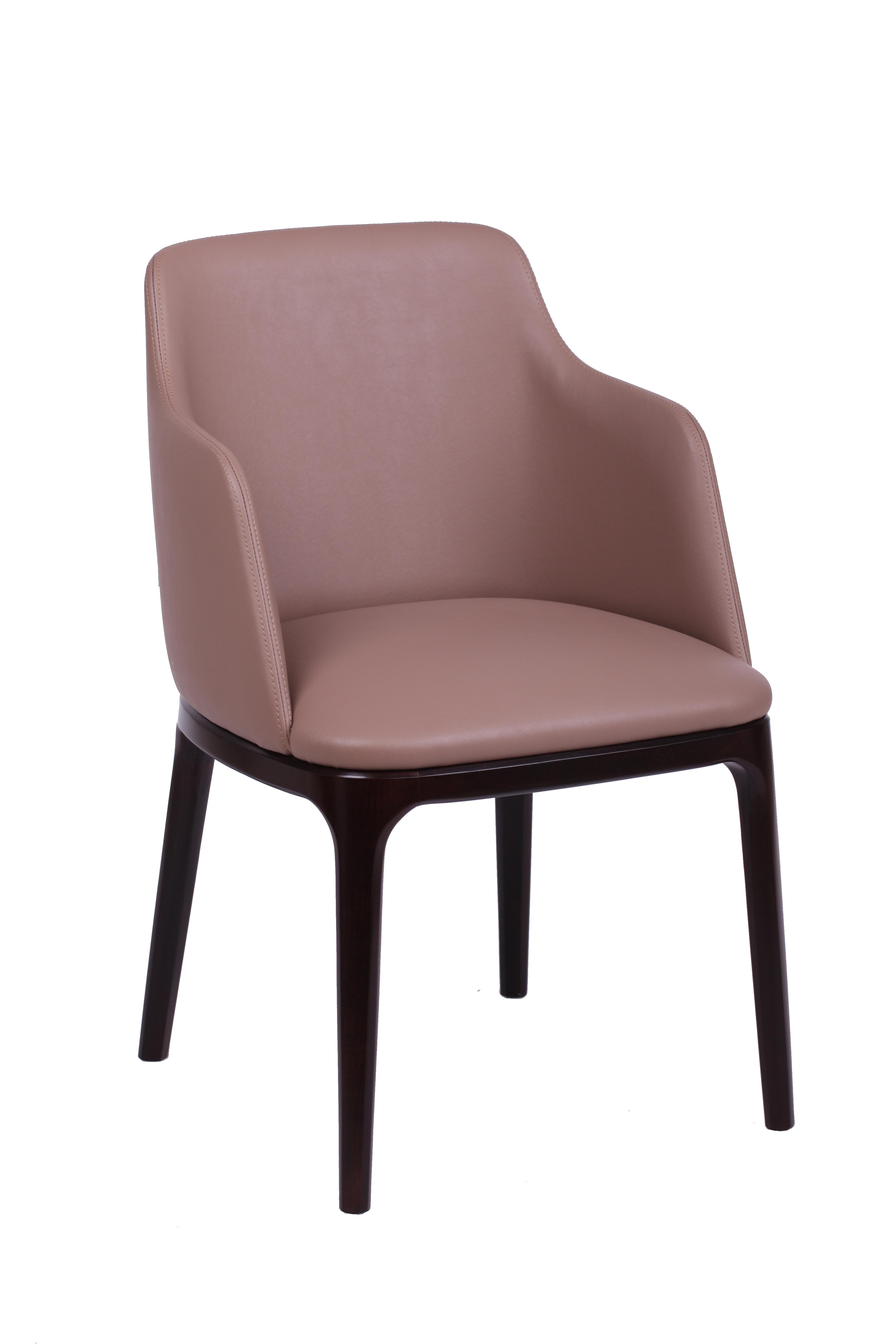 Wygodne krzesło tapicerowane KT 38 z podłokietnikami