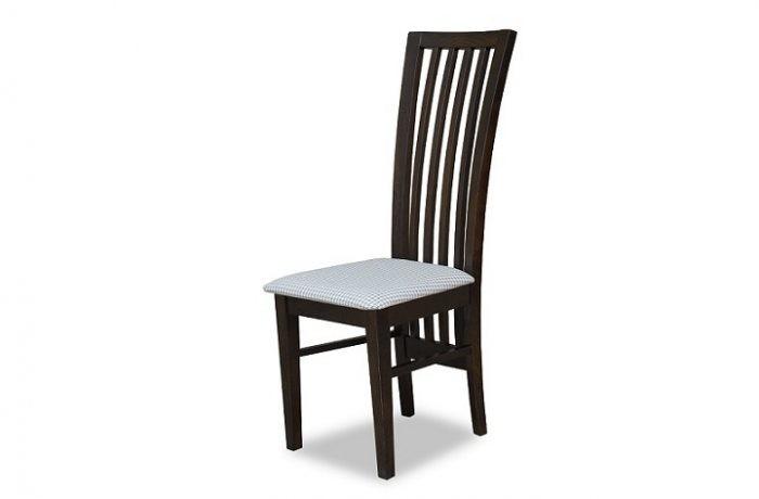 Wysokie krzesło do jadalni z drewnianym oparciem MR 153