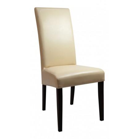 Krzesło tapicerowane KT 10 skóra ekologiczna ecry
