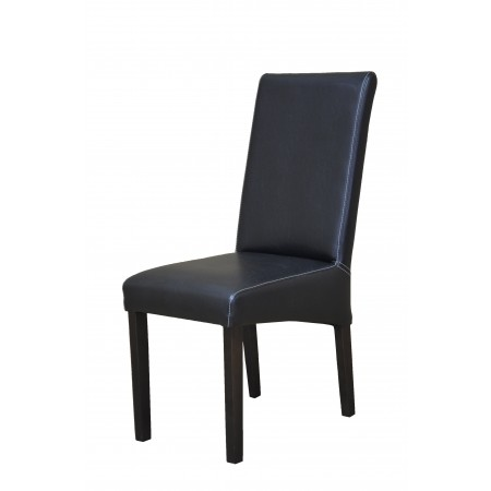 Krzesło tapicerowane KT 9 w czarnym kolorze