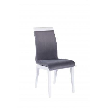 Krzesło tapicerowane KT 19 z listwą drewnianą