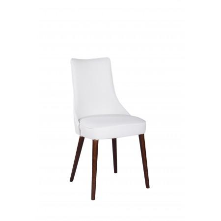 Krzesło tapicerowane KT 22 w białym kolorze