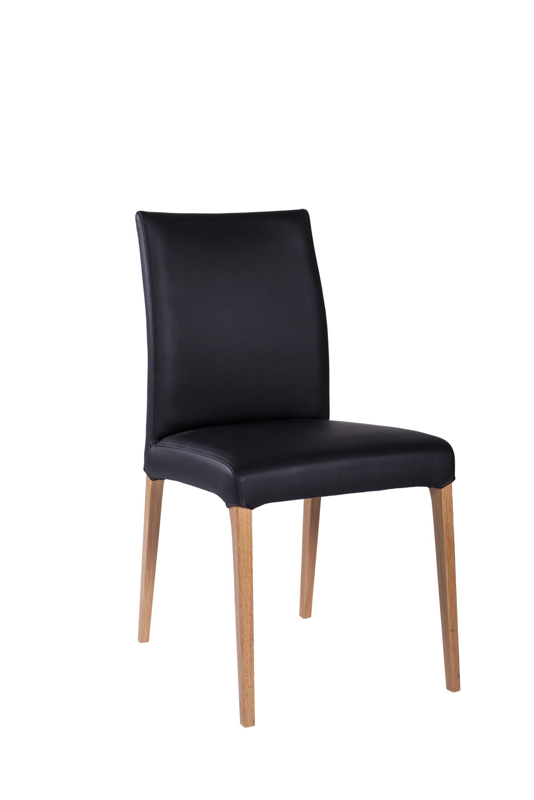 Krzesło tapicerowane w czarnym kolorze wygodne KT 26