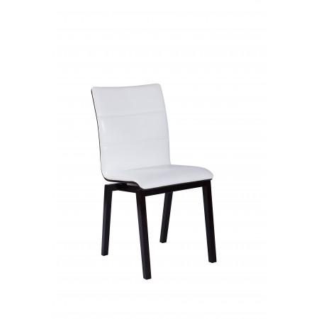 Nowoczesne krzesło tapicerowane KT 17 w kolorze białym