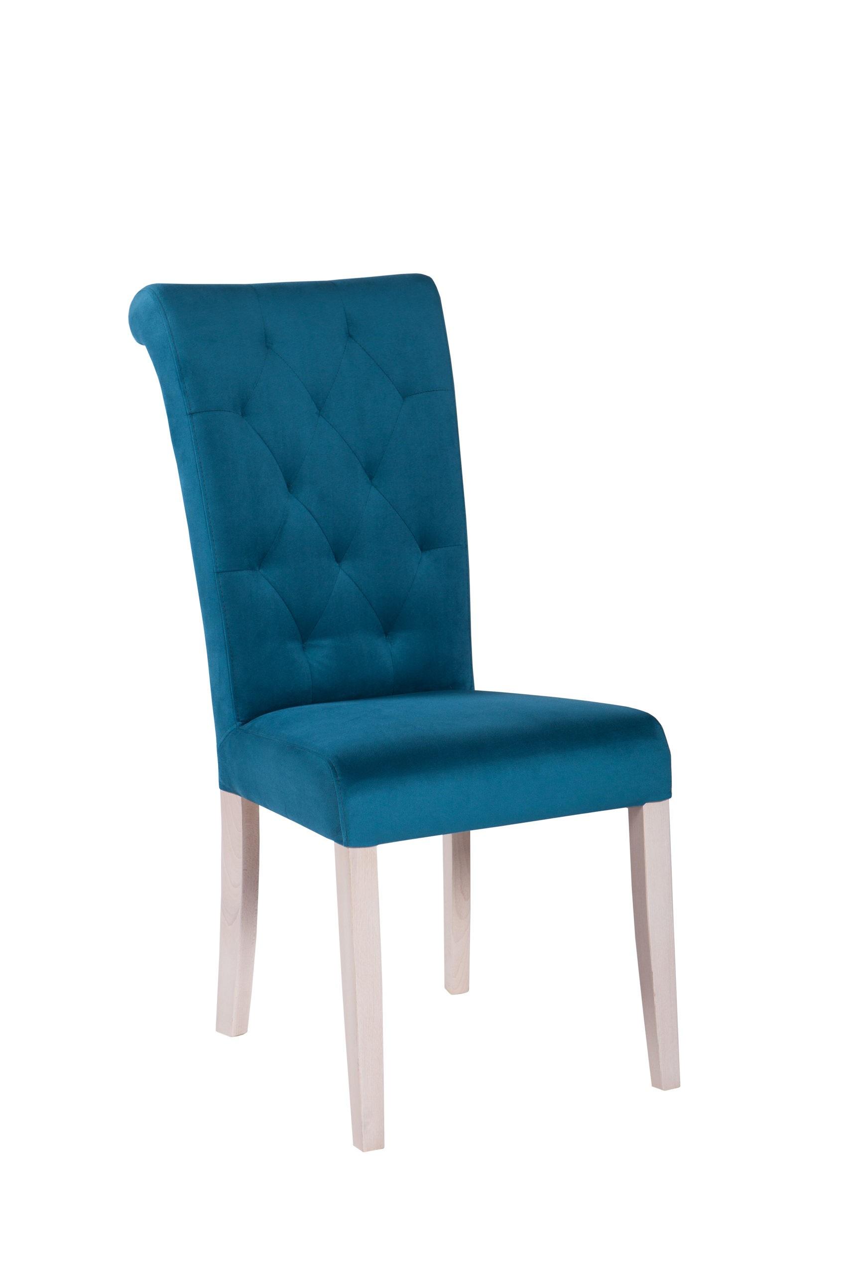 Wygodne krzesło tapicerowane z pikowanym oparciem KT 24