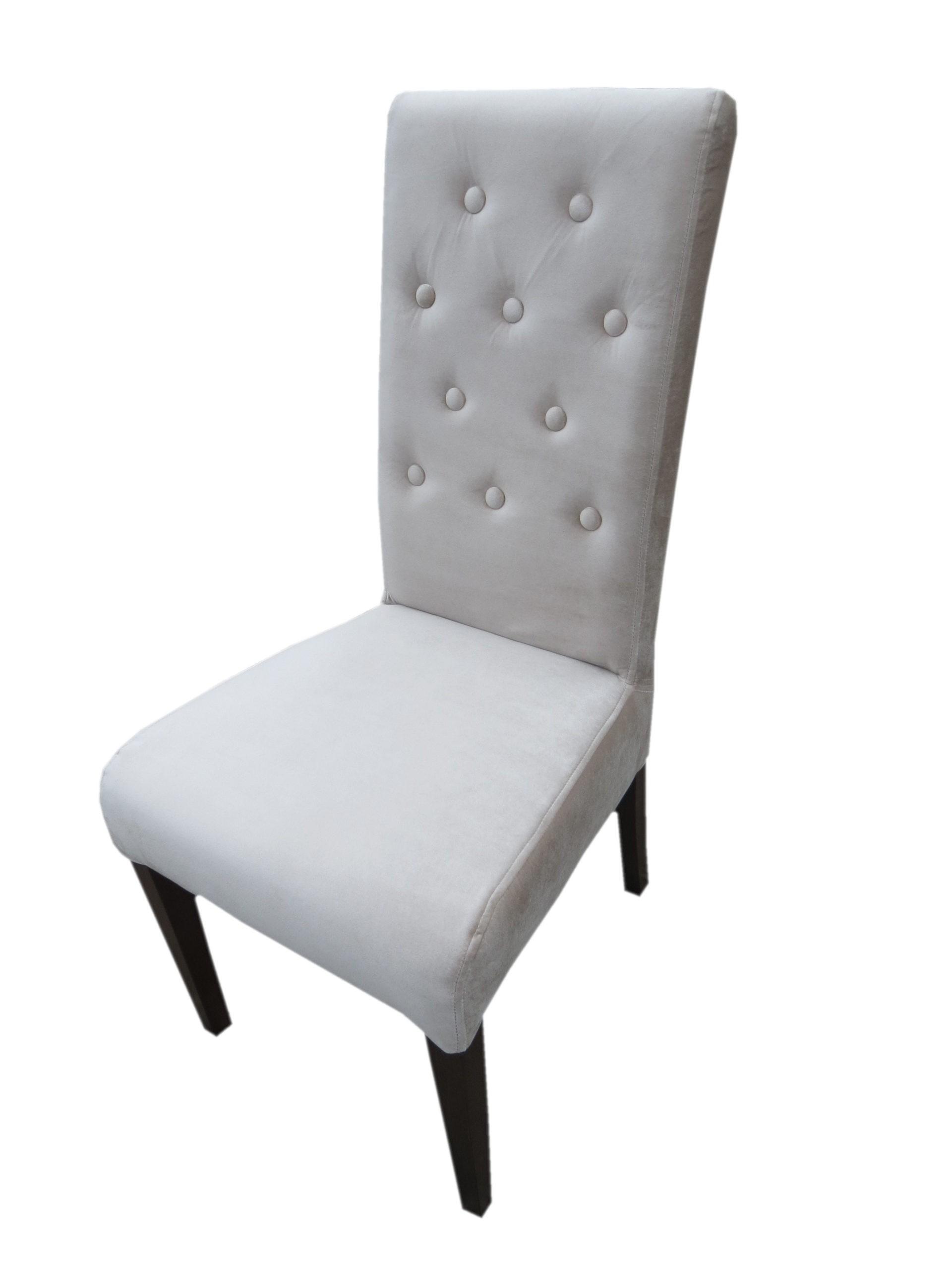 Krzesło tapicerowane MR 107 pikowane z guzikami