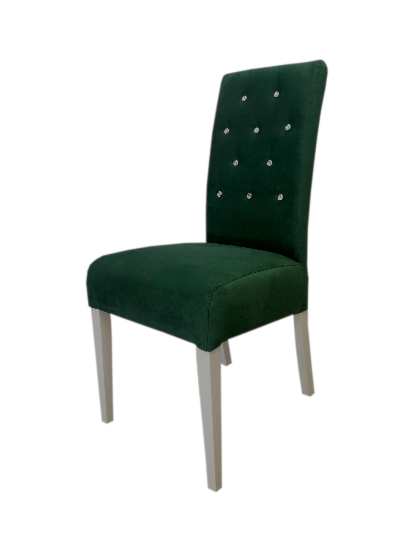 Krzesło tapicerowane MR 108 pikowane z kryształkami