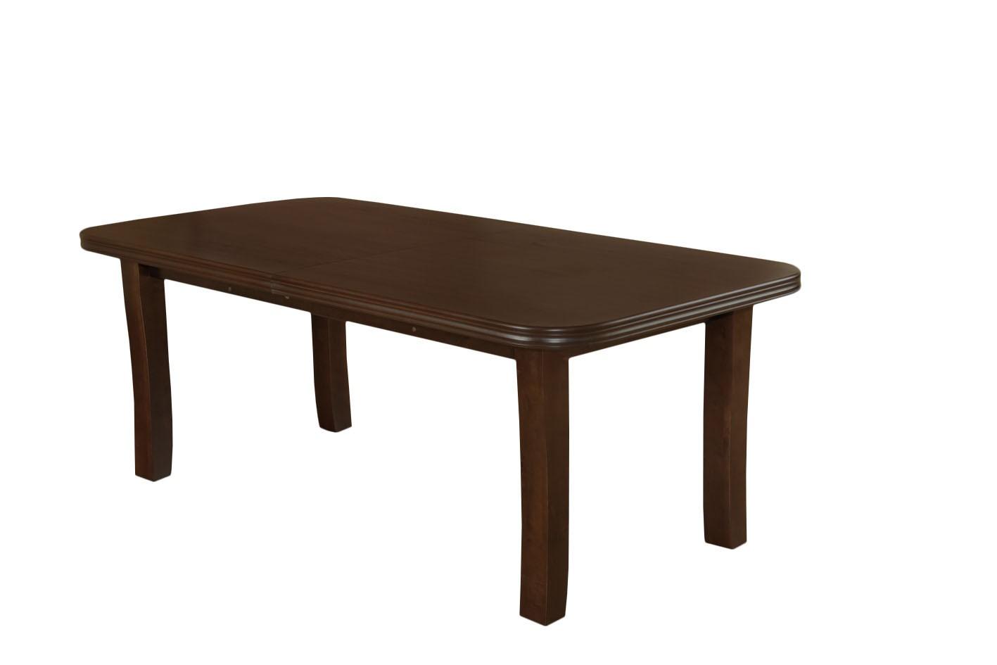 Stół SM 11 w naturalnej okleinie drewnianej buk lub dąb rozkładany z trzema wkładkami